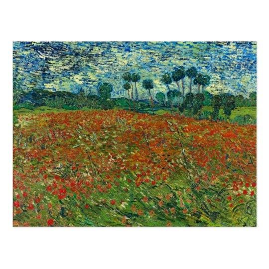 Vincent Van Gogh Poppy Field Postcard