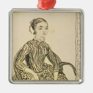 Vincent van Gogh | Portrait of a Young Girl, 1888 Silver-Colored Square Decoration