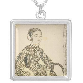 Vincent van Gogh   Portrait of a Young Girl, 1888 Silver Plated Necklace