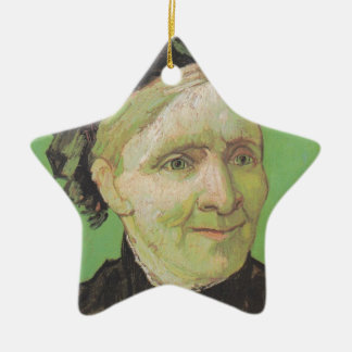 Vincent Van Gogh Portrait of Artist's Mother Art Ceramic Star Decoration