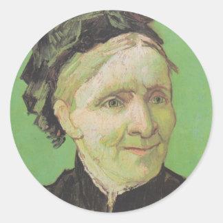 Vincent Van Gogh Portrait of Artist's Mother Art Round Sticker