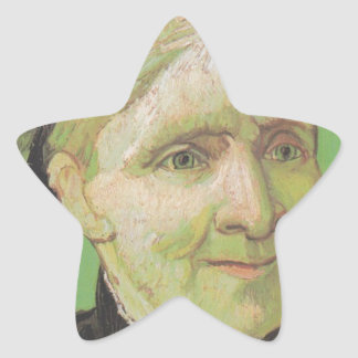 Vincent Van Gogh Portrait of Artist's Mother Art Star Sticker