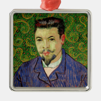 Vincent van Gogh | Portrait of Dr. Felix Rey, 1889 Silver-Colored Square Decoration