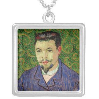 Vincent van Gogh | Portrait of Dr. Felix Rey, 1889 Silver Plated Necklace