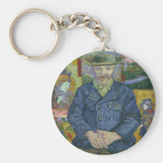 Vincent Van Gogh - Portrait of Pere Tanguy Key Ring