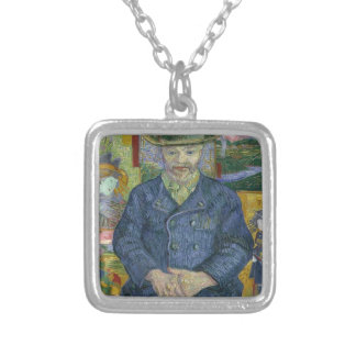 Vincent Van Gogh - Portrait of Pere Tanguy Silver Plated Necklace