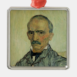 Vincent van Gogh | Portrait of Superintendant Silver-Colored Square Decoration
