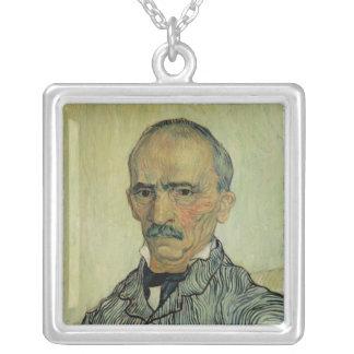 Vincent van Gogh | Portrait of Superintendant Silver Plated Necklace