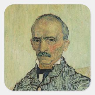 Vincent van Gogh | Portrait of Superintendant Square Sticker