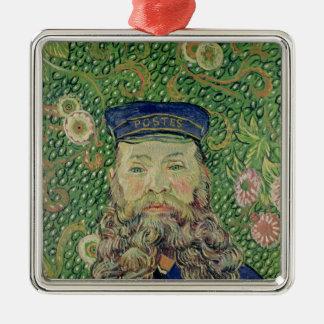 Vincent van Gogh | Portrait of the Postman Silver-Colored Square Decoration