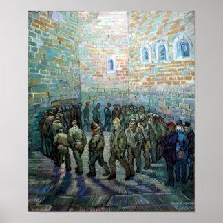 Vincent van Gogh Prisoners Exercising Poster