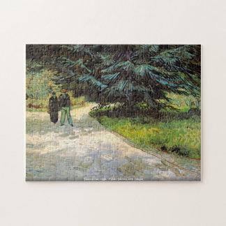 Vincent van Gogh-Public Garden with Couple Puzzle