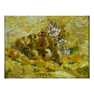 Vincent van Gogh Quinces, Lemons, Pears and Grapes Poster