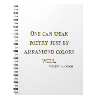 Vincent Van Gogh Quote Notebook