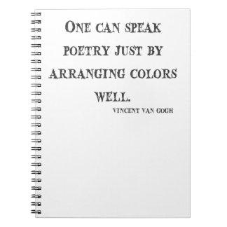 Vincent Van Gogh Quote Notebook