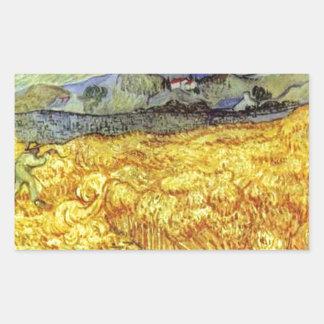 Vincent Van Gogh Reaper Rectangular Sticker