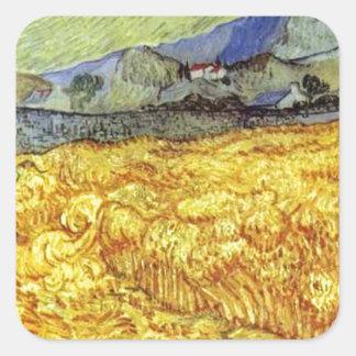 Vincent Van Gogh Reaper Square Sticker