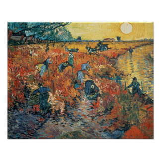 Vincent van Gogh | Red Vineyards at Arles, 1888 Poster