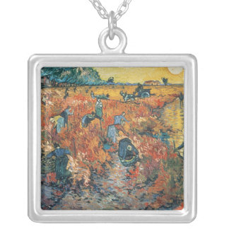 Vincent van Gogh | Red Vineyards at Arles, 1888 Silver Plated Necklace