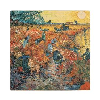 Vincent van Gogh | Red Vineyards at Arles, 1888 Wood Coaster