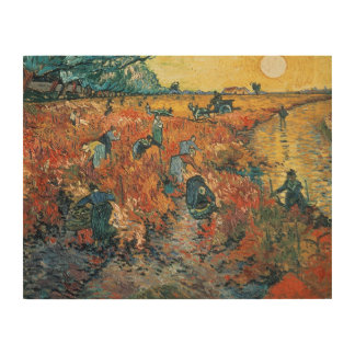 Vincent van Gogh | Red Vineyards at Arles, 1888 Wood Print