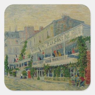 Vincent van Gogh | Restaurant de la Sirene Square Sticker