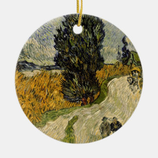 Vincent van Gogh   Road with Cypresses, 1890 Christmas Ornament