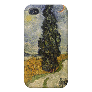 Vincent van Gogh | Road with Cypresses, 1890 Cover For iPhone 4