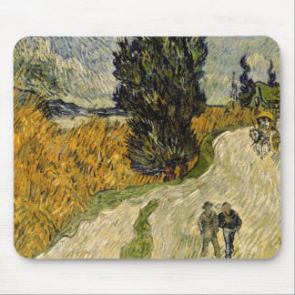 Vincent van Gogh | Road with Cypresses, 1890 Mouse Mat