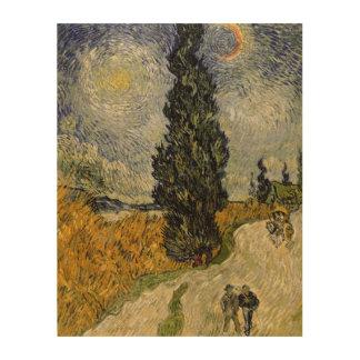 Vincent van Gogh | Road with Cypresses, 1890 Wood Wall Decor
