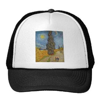 Vincent van Gogh - Road with Cypresses Cap