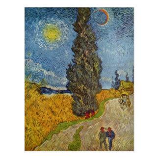 Vincent van Gogh - Road with Cypresses Postcards