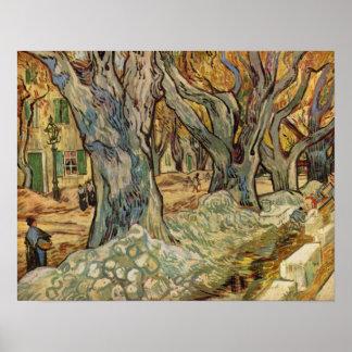 Vincent van Gogh - Road Workers Poster