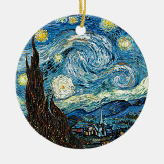 Vincent Van Gogh's Starry Night Christmas Ornament