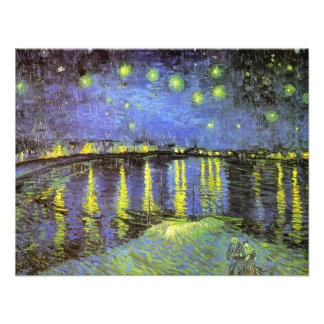 Vincent van Gogh s Starry Night Over the Rhone Custom Invitations