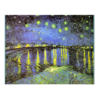 Vincent van Gogh s Starry Night Over the Rhone Personalized Announcement
