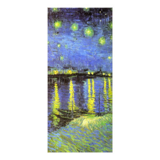 Vincent van Gogh s Starry Night Over the Rhone Rack Card Design