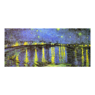 Vincent van Gogh s Starry Night Over the Rhone Customized Rack Card