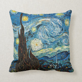 Vincent Van Gogh's Starry Night Throw Pillow