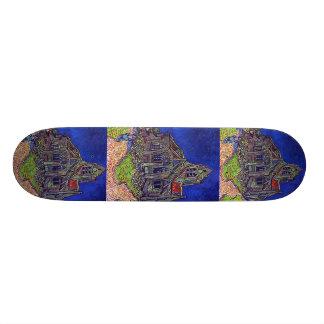 Vincent Van Gogh s The Church of Auvers Skate Deck