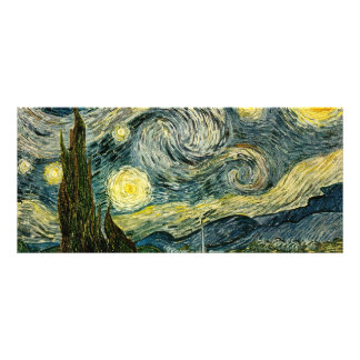 Vincent van Gogh s The Starry Night 1889 Personalized Rack Card