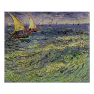 Vincent van Gogh | Seascape at Saintes-Maries Poster