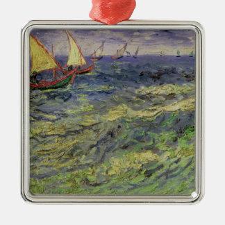 Vincent van Gogh   Seascape at Saintes-Maries Silver-Colored Square Decoration