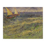 Vincent van Gogh | Seascape at Saintes-Maries Wood Wall Art
