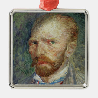 Vincent van Gogh | Self Portrait, 1887 Silver-Colored Square Decoration