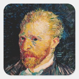 Vincent van Gogh | Self Portrait, 1887 Square Sticker