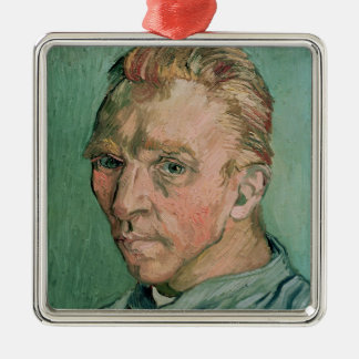 Vincent van Gogh | Self Portrait, 1889 Silver-Colored Square Decoration