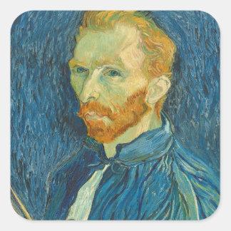 Vincent van Gogh | Self Portrait, 1889 Square Sticker