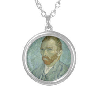 Vincent Van Gogh Self Portrait Classic Art work Silver Plated Necklace
