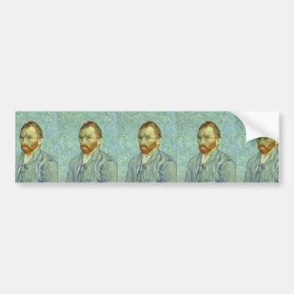 Vincent Van Gogh Self Portrait Fine Art Painting Bumper Sticker